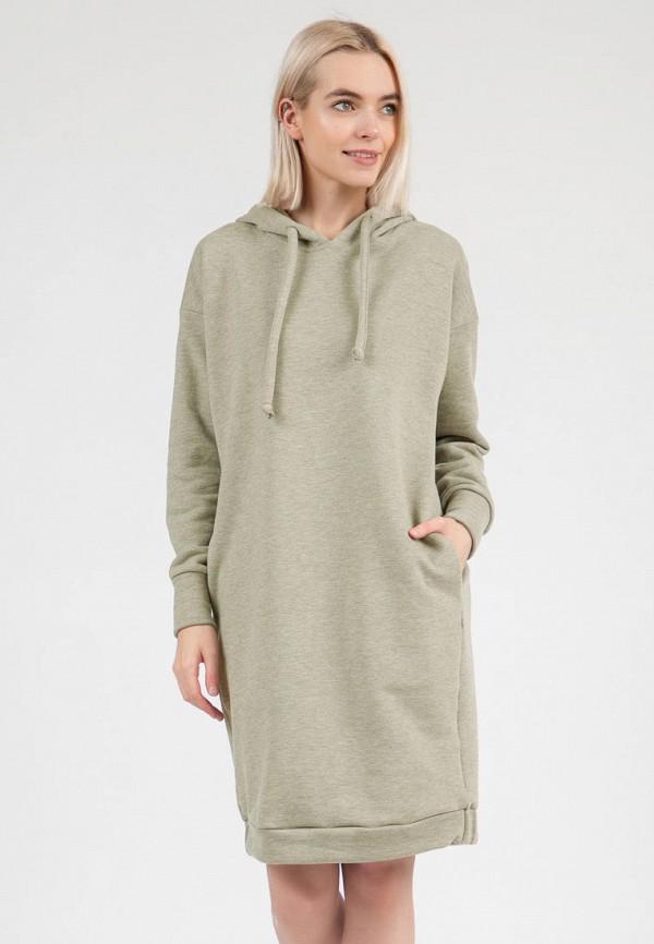 женское платье-толстовки olivegrey, зеленое