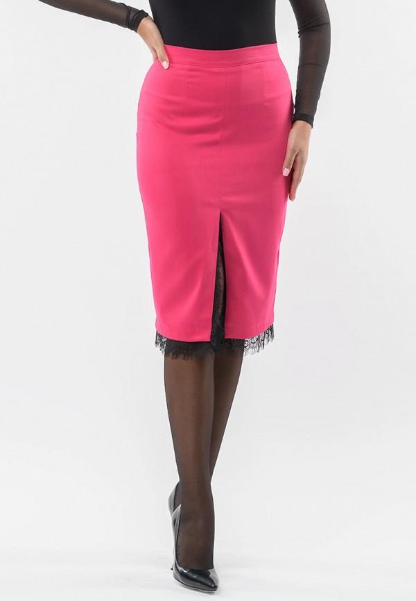 женская прямые юбка remix, розовая