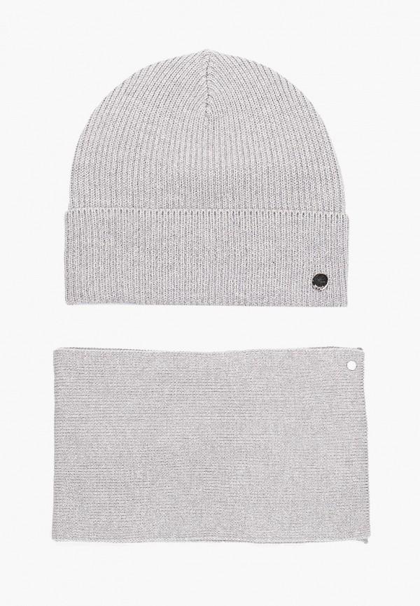 женский шарф hugo, серый