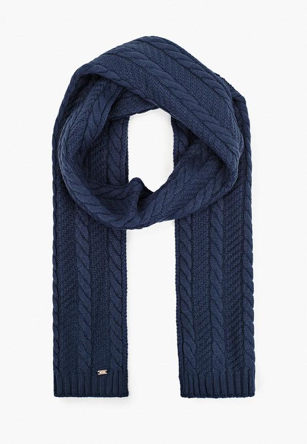 женский шарф u.s. polo assn, синий