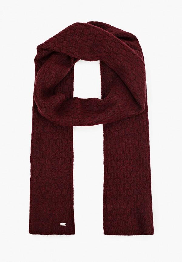 женский шарф u.s. polo assn, бордовый