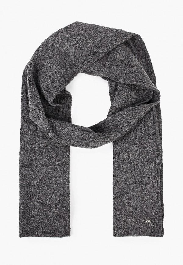 женский шарф u.s. polo assn, серый