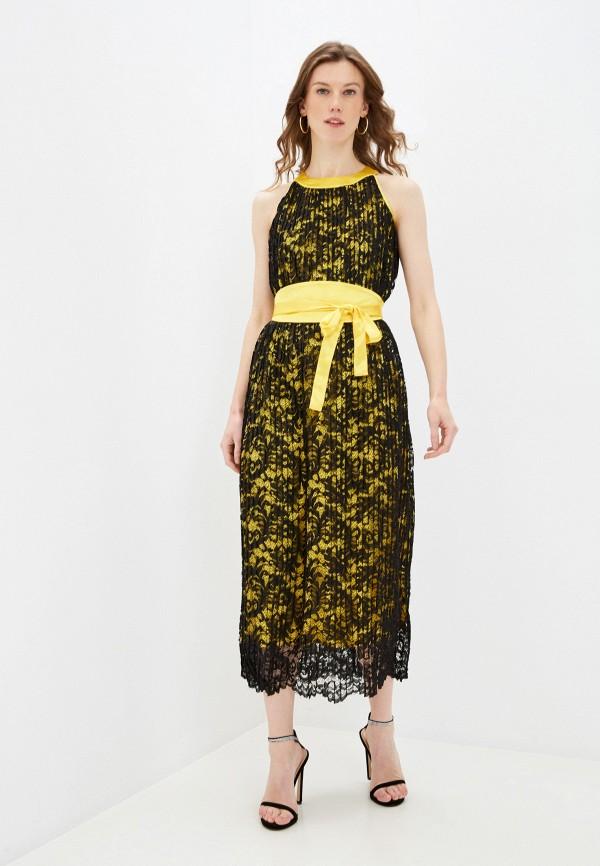 женское вечерние платье мадам т, желтое
