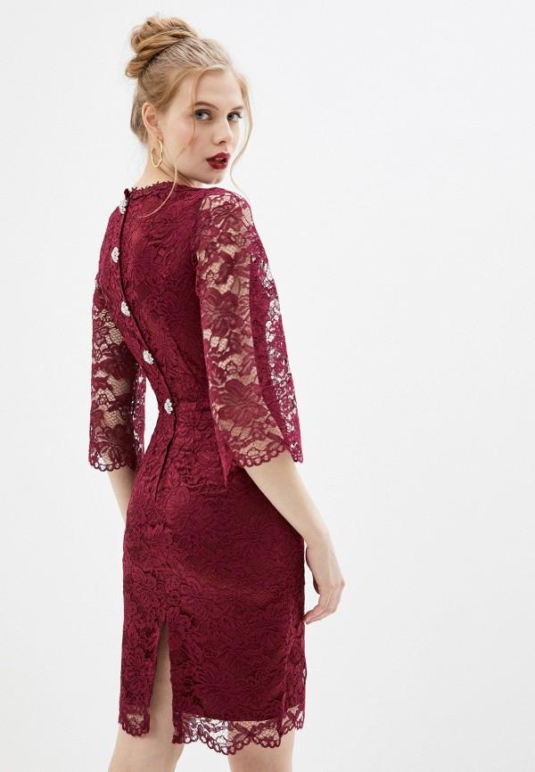 женское вечерние платье мадам т, бордовое