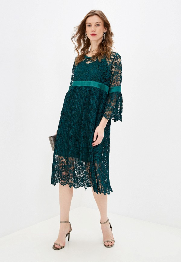 женское вечерние платье мадам т, зеленое