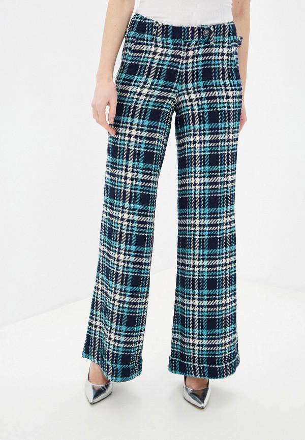 женские брюки клеш мадам т, бирюзовые
