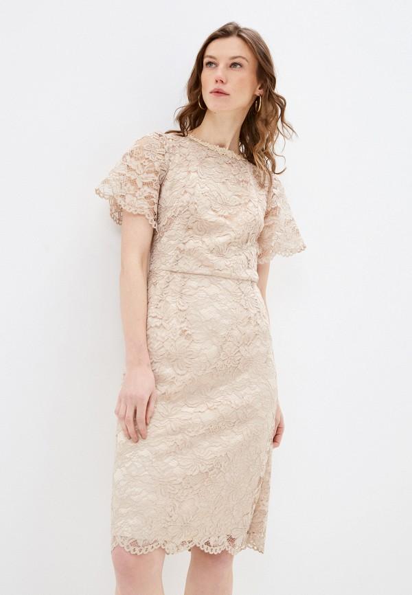 женское вечерние платье мадам т, бежевое