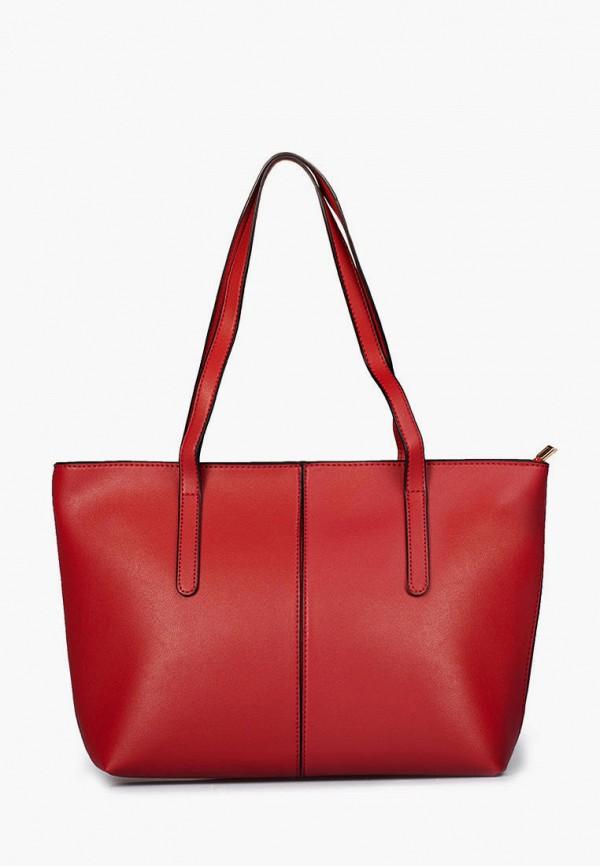 женская сумка-шоперы sefaro exotic, красная