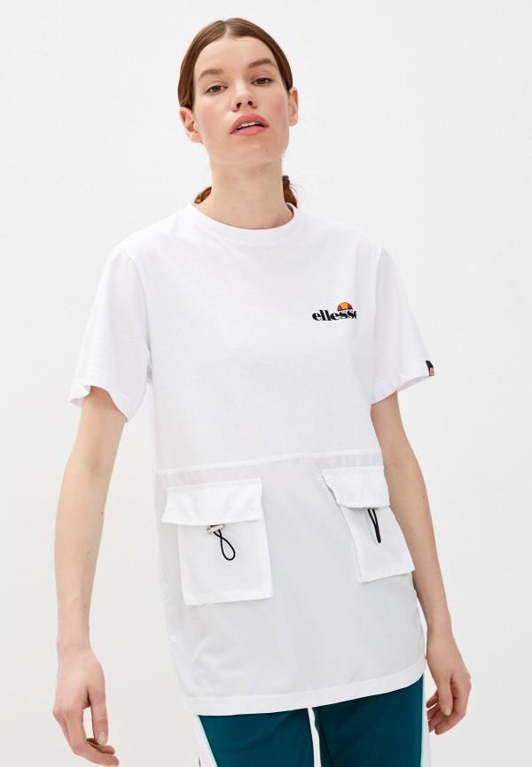 женская футболка ellesse, белая