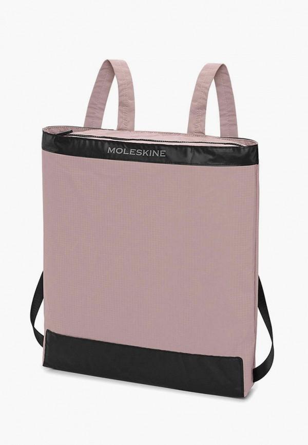 женский рюкзак moleskine, розовый