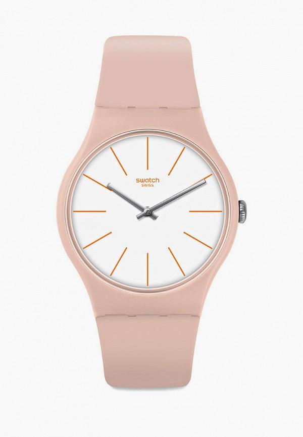 женские часы swatch, бежевые