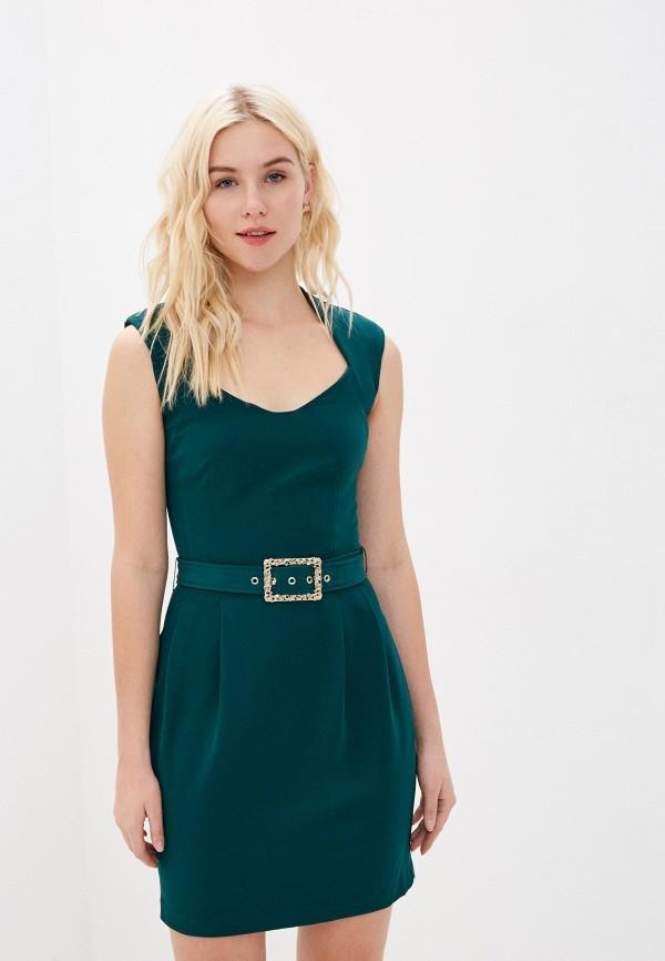 женское платье-футляр love republic, зеленое
