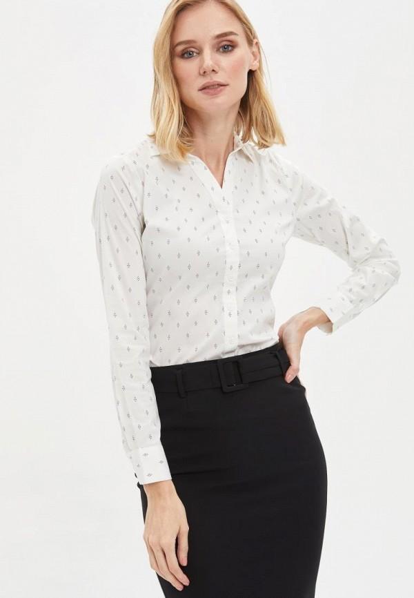 женская рубашка с длинным рукавом defacto, белая