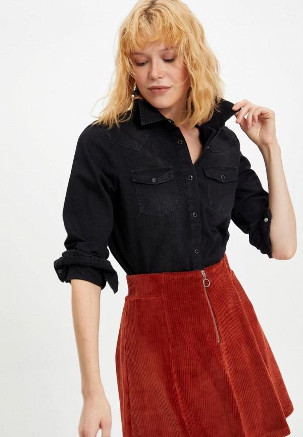 женская джинсовые рубашка defacto, черная