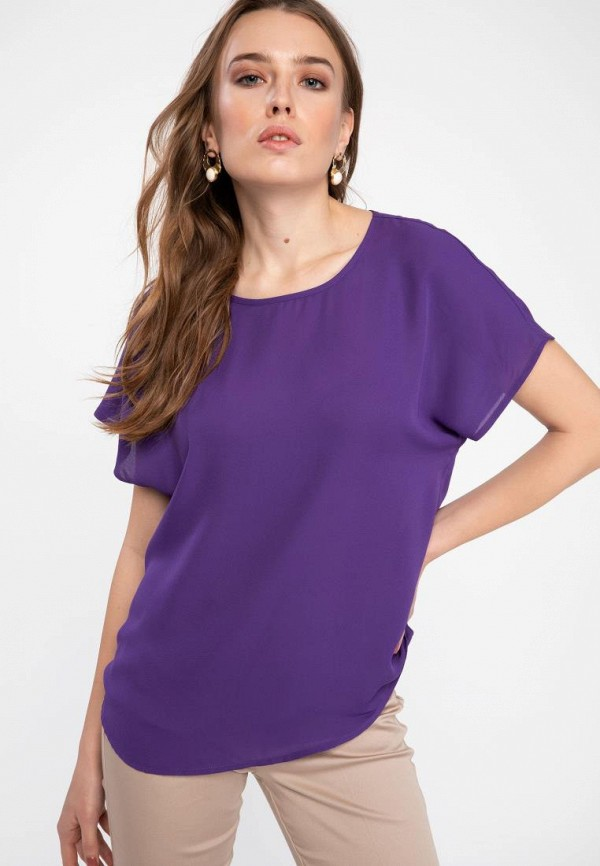 женская футболка defacto, фиолетовая