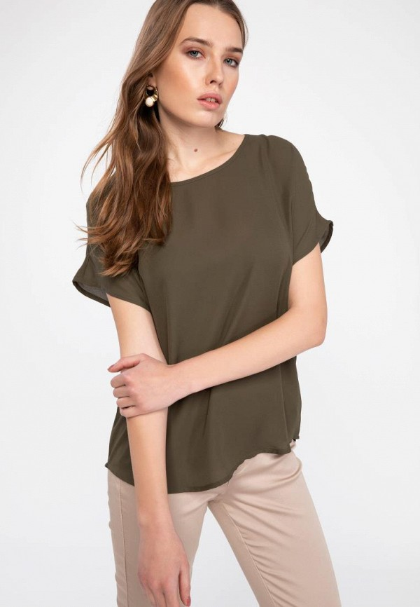 женская футболка defacto, хаки