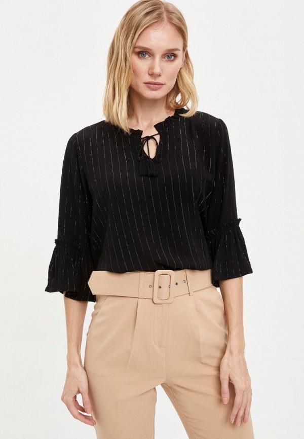 женская блузка defacto, черная