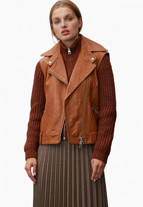 женский жилет marc o'polo, коричневый