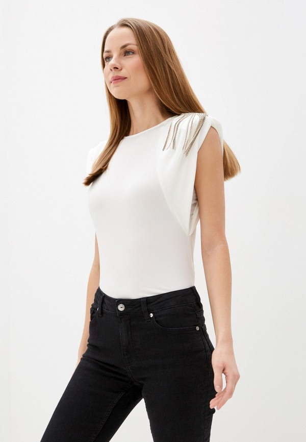 женская блузка без рукавов love republic, белая