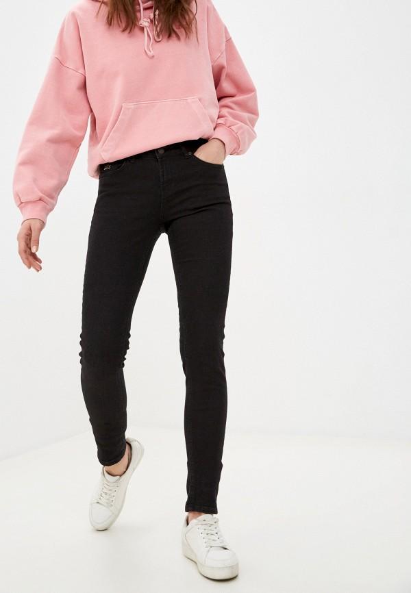 женские джинсы скинни lacoste, черные