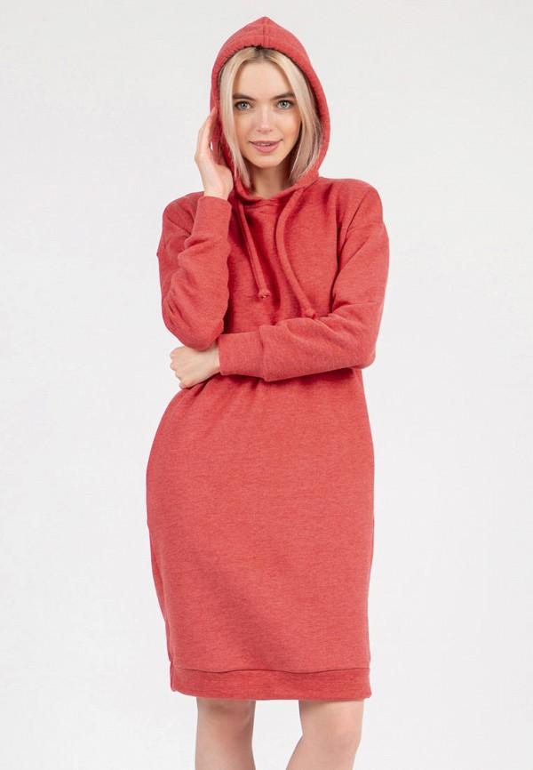 женское платье-толстовки olivegrey, красное