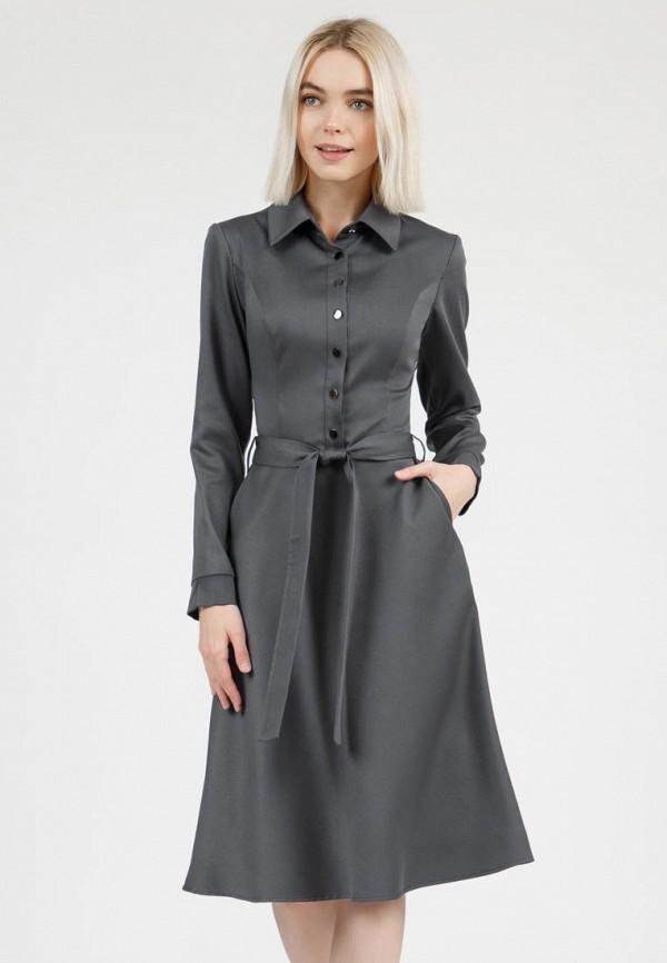 женское платье-рубашки olivegrey, серое