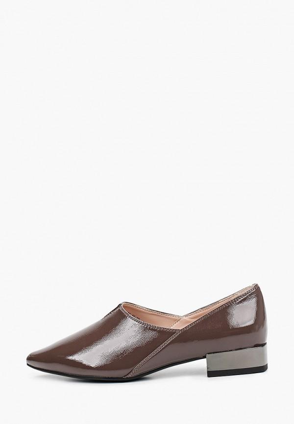 женские туфли с закрытым носом calipso, коричневые