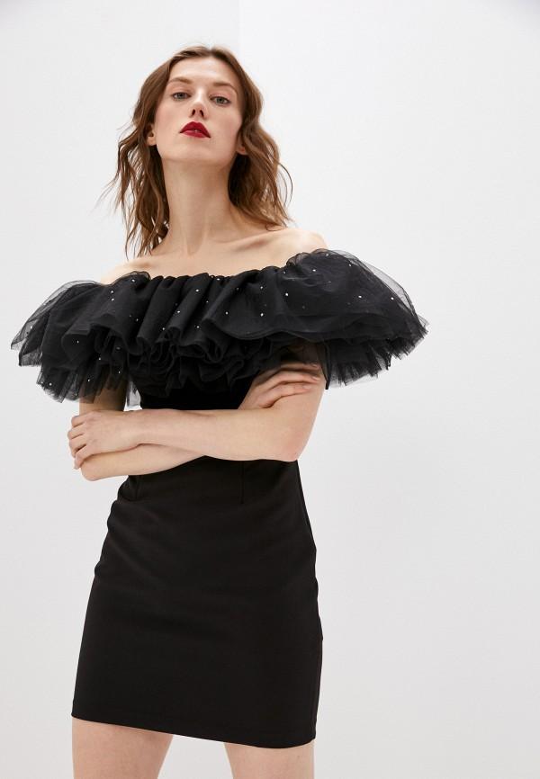 женское вечерние платье lime, черное