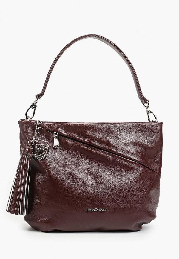 женская сумка с ручками fiato, бордовая