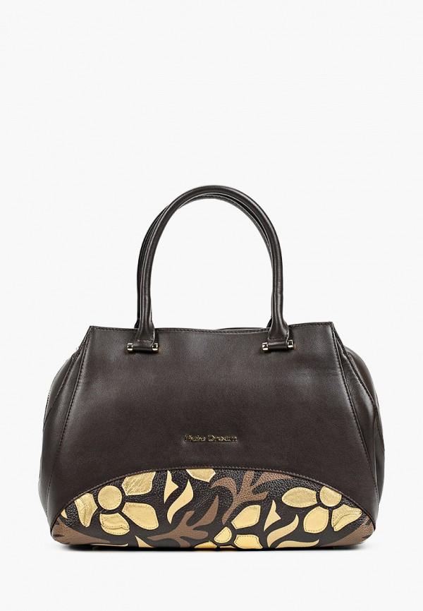 женская сумка с ручками fiato, коричневая