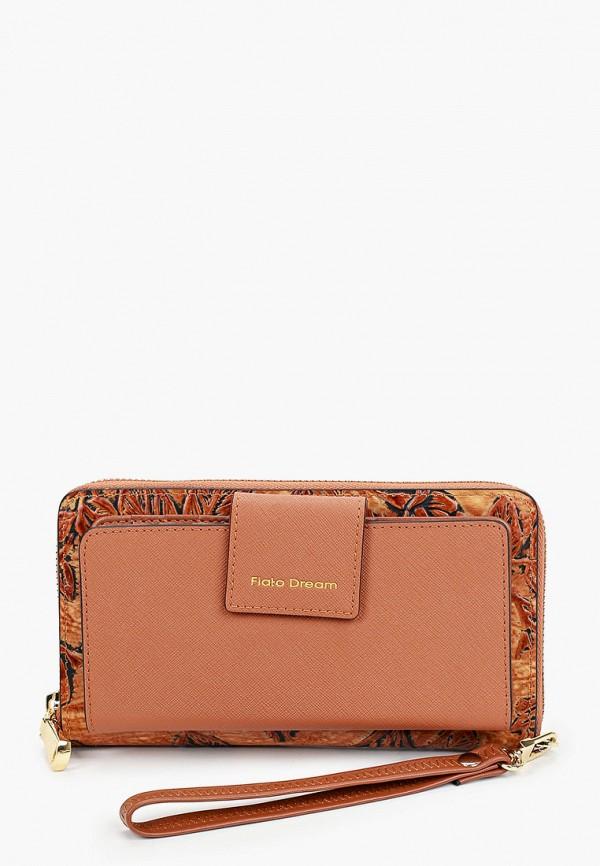 женский кошелёк fiato, коричневый