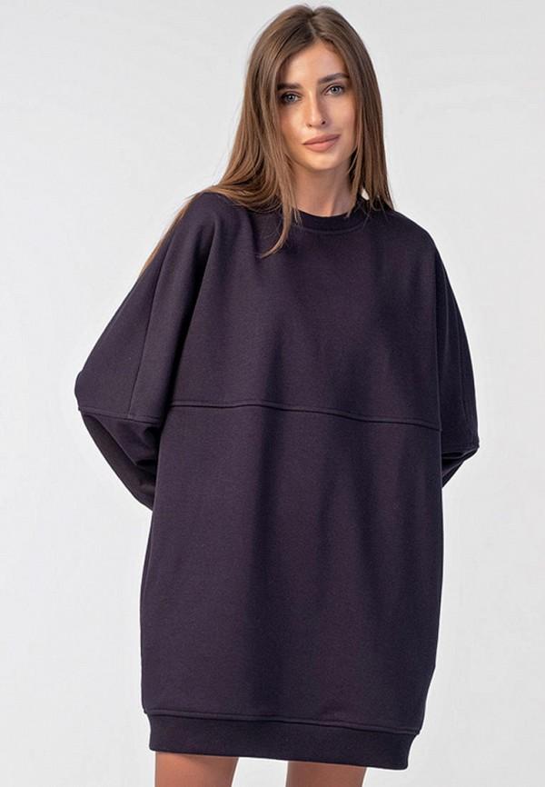 женское платье-толстовки fly, фиолетовое