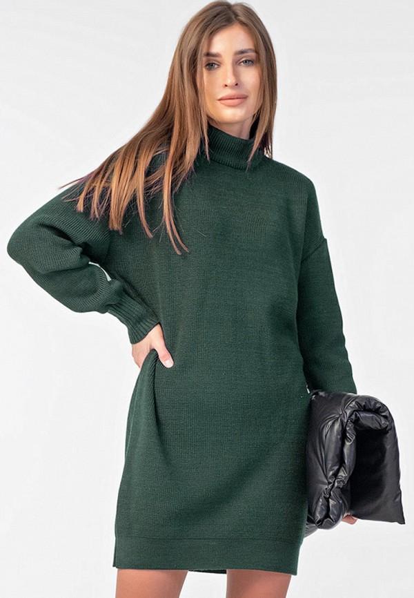 женское платье-свитеры fly, зеленое