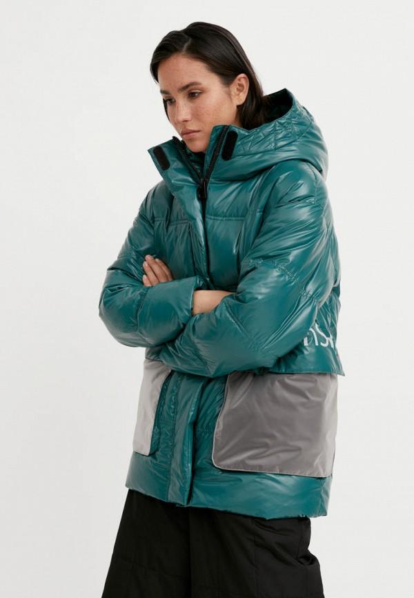 Куртка утепленная Finn Flare зеленого цвета