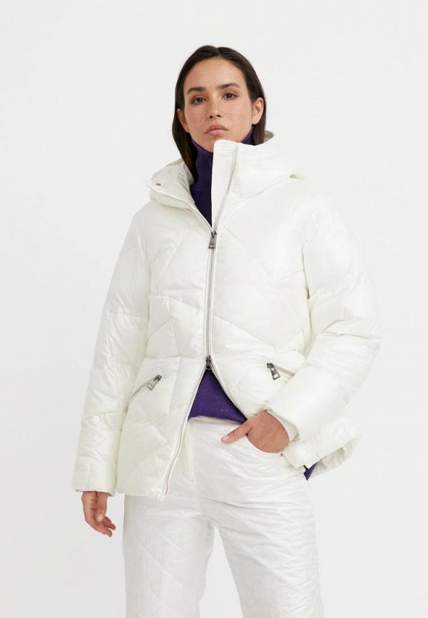 Куртка утепленная Finn Flare белого цвета