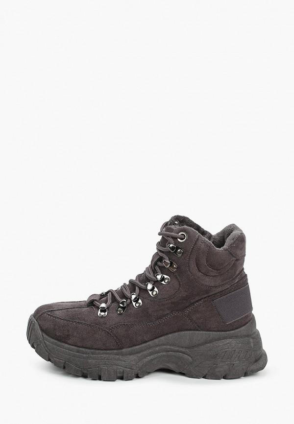 женские высокие ботинки escan, серые