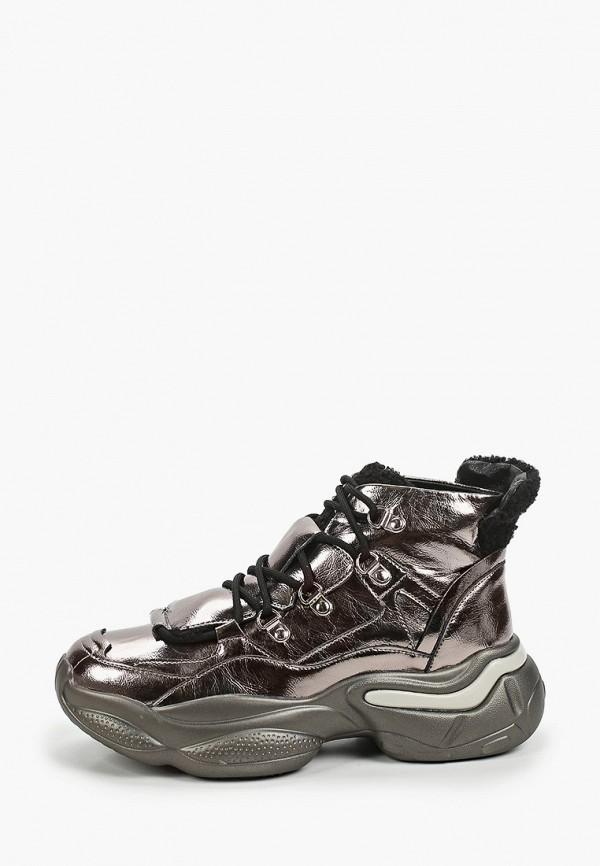 женские низкие кроссовки escan, серебряные