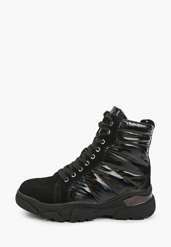 женские высокие ботинки escan, черные