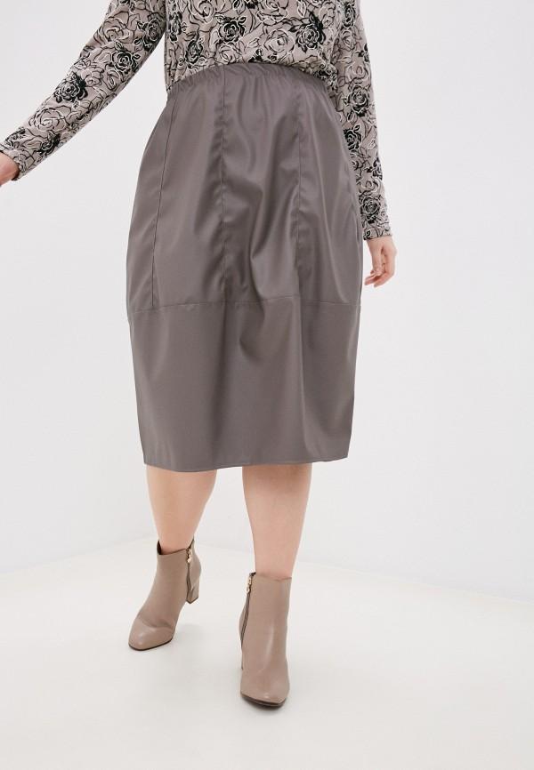 женская кожаные юбка olsi, серая