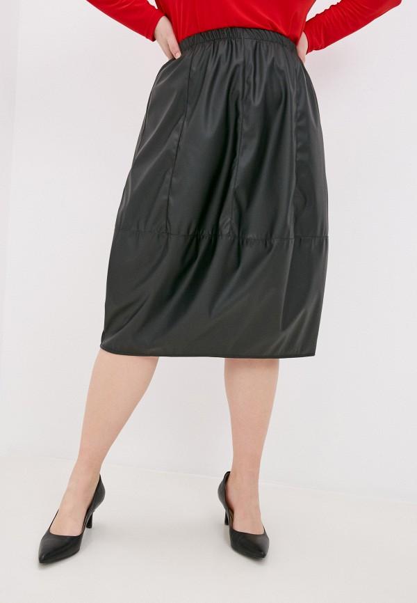 женская кожаные юбка olsi, черная