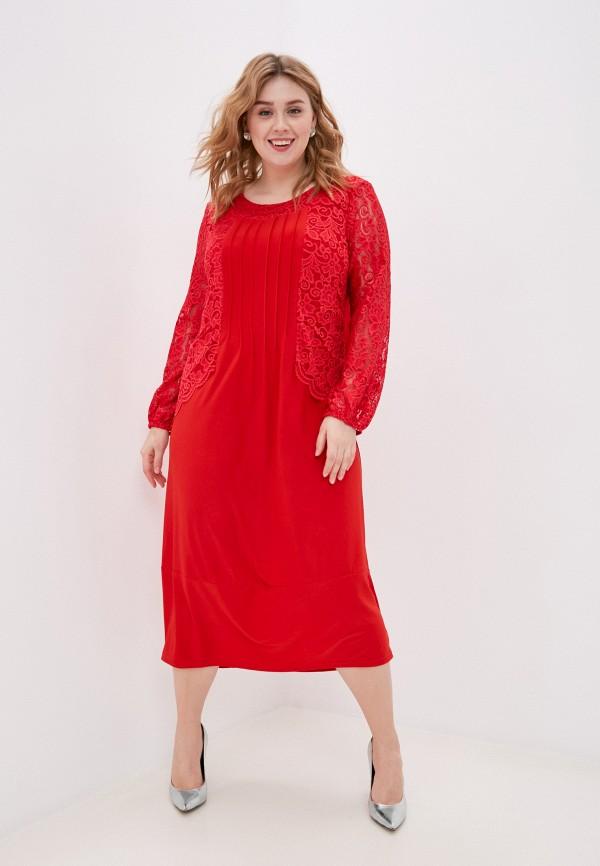 женское повседневные платье olsi, красное