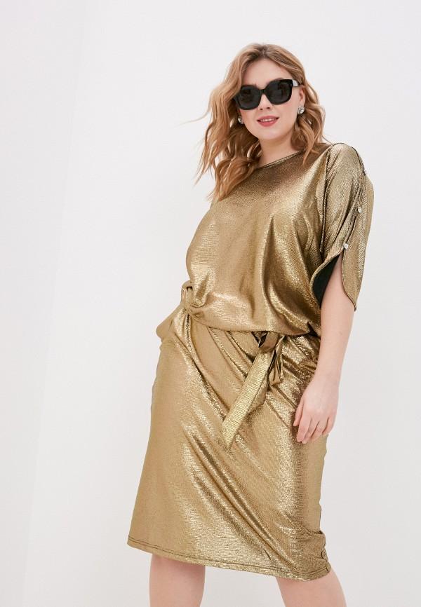 женское вечерние платье olsi, золотое