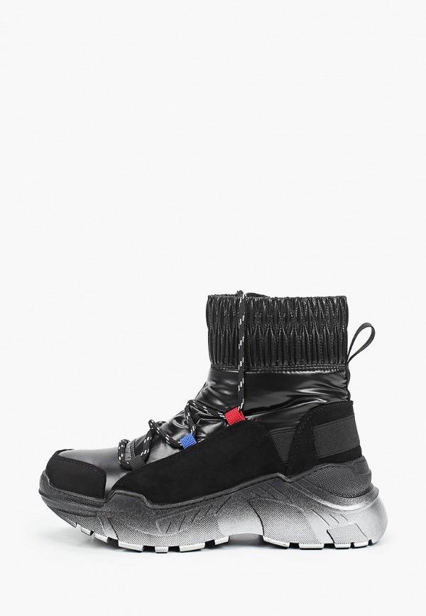 женские высокие ботинки finn line, черные