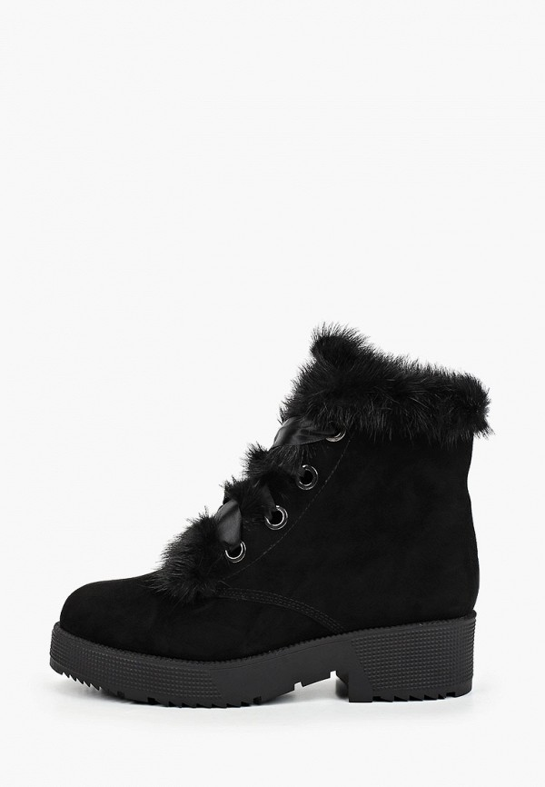 женские высокие ботинки basconi, черные
