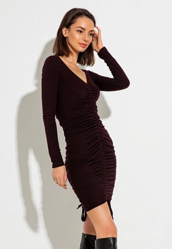 женское вечерние платье itelle, коричневое