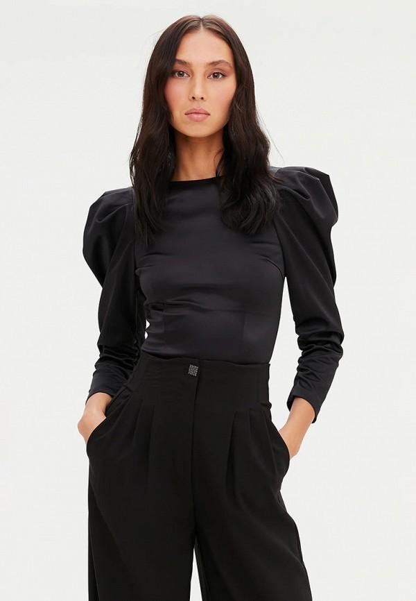 женская блузка с длинным рукавом love republic, черная