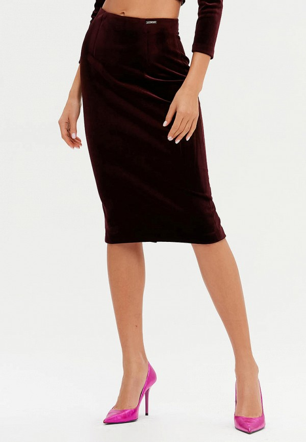женская прямые юбка love republic, коричневая