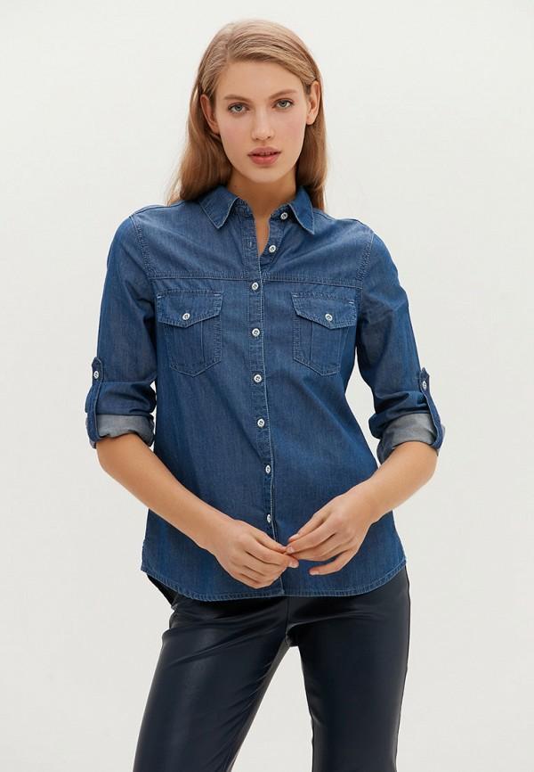 женская джинсовые рубашка love republic, голубая