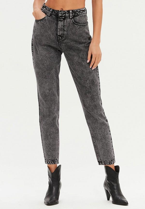 женские джинсы-мом love republic, серые