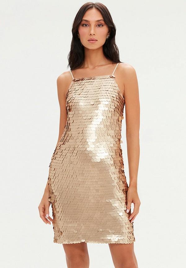женское вечерние платье love republic, золотое